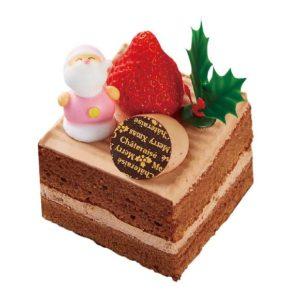 四角いチョコケーキ