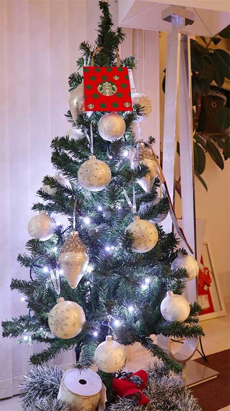 クリスマスカードの飾り