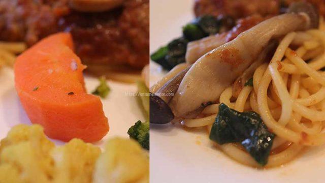 ナッシュ「ハンバーグと温野菜のデミ」中身