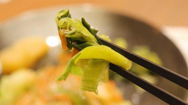 肉のプルコギ風』は糖質制限食とは思えないボリューム!チンゲン菜