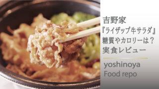 【糖質オフ】吉野家のライザップ牛サラダをウーバーイーツ!実食レビューをご紹介
