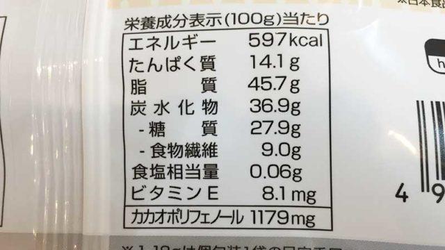 低糖質ダイエットのいらいらを解消!『ロカボアーモンドチョコ』カロリー